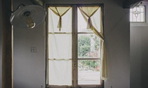フレンチドアのカーテン