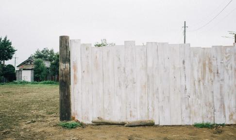 ポタジェの板塀