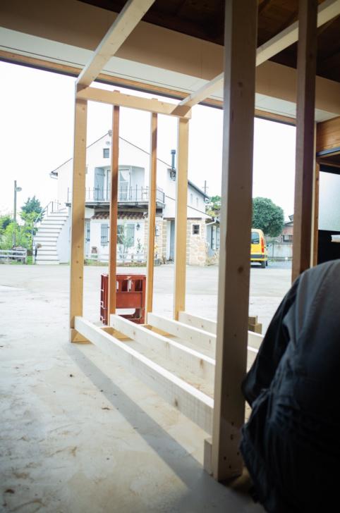 ツーバイ材(2×4)で薪棚を作成