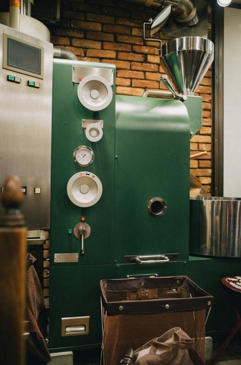 カフェバッハの焙煎機