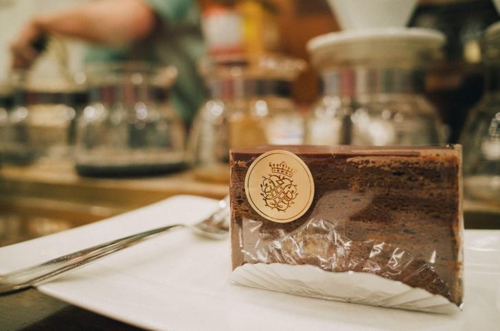 カフェバッハのチョコレートケーキ