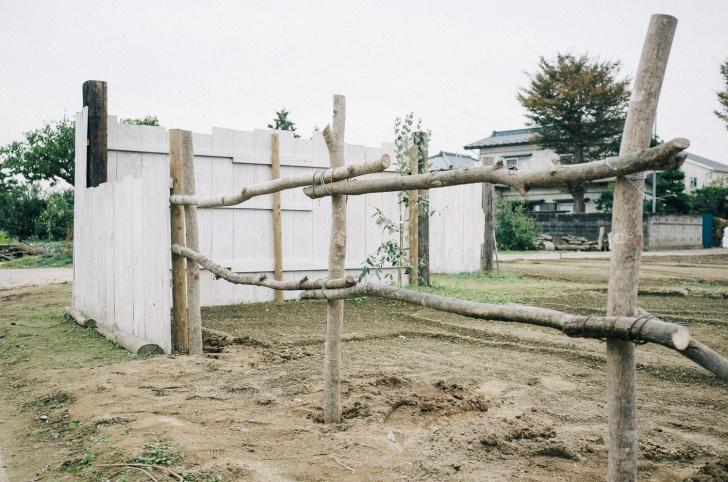 ポタジェの柵を作成