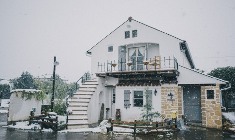 いばフラ雪景色