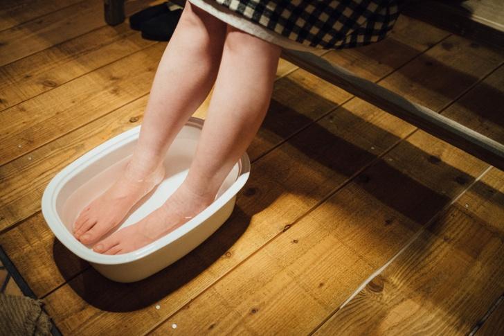自宅で足湯