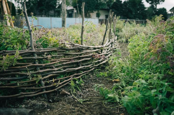 ポタジェガーデンにアクセントを。簡単で雰囲気抜群の小さな柵作り
