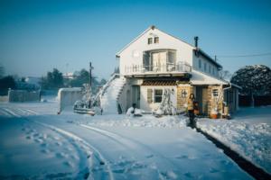 大雪になった妻の初出勤の日