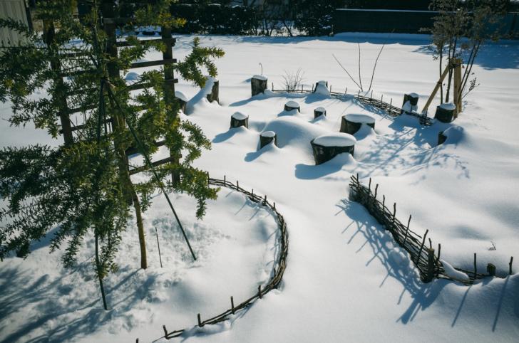 雪のポタジェガーデン