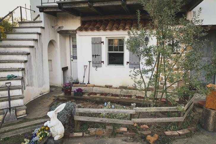 大谷石を使って庭とポタジェガーデンの模様替え